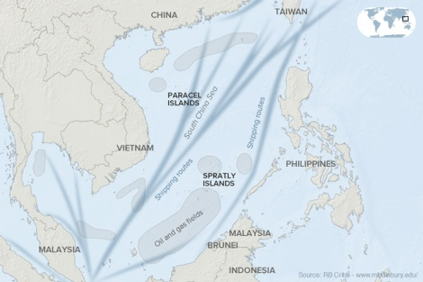 The second of important maritime route and hydrocarbon deposits within China's unsubstantiated 'Nine-Dash-Line'